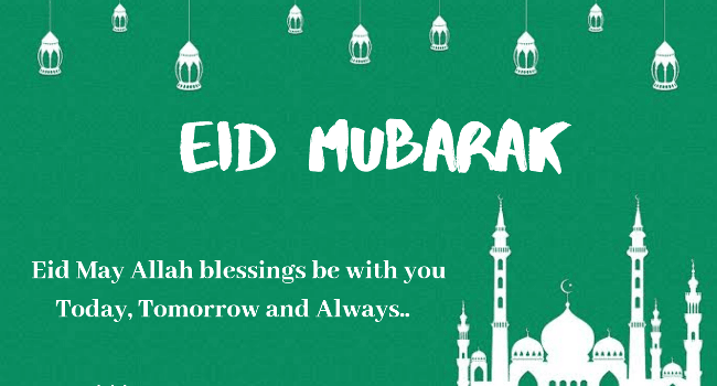 Happy eid al fitr sms 2020