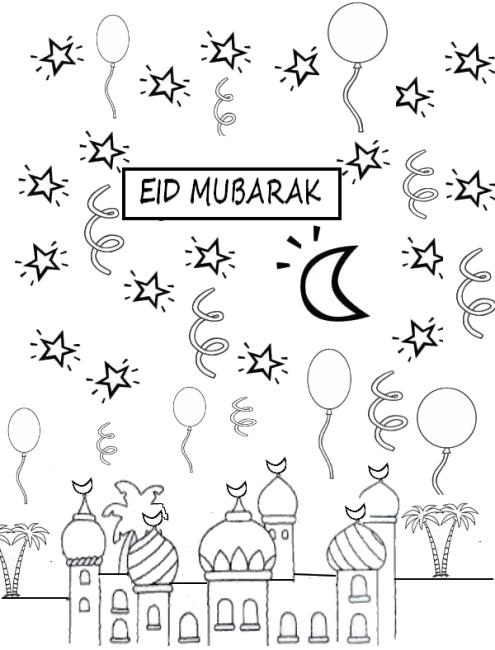 eid mubarak coloring pages 2020