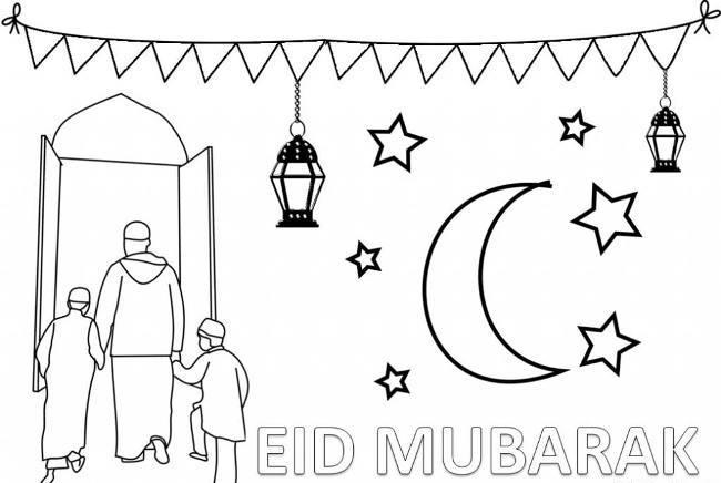 eid mubarak coloring page